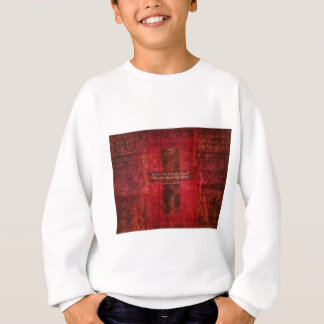 ジョシュアの24:15の感動的な聖書の引用文 スウェットシャツ