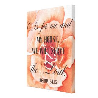 ジョシュアの24:15の花のキャンバスのプリント キャンバスプリント