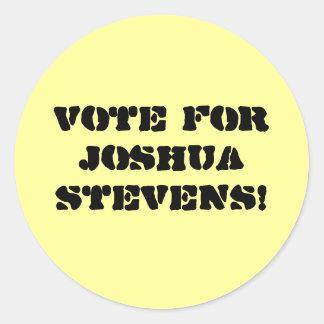 ジョシュアスティーヴンスのための投票! ラウンドシール