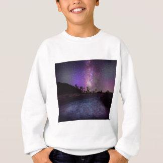 ジョシュアツリーの国立公園の銀河 スウェットシャツ