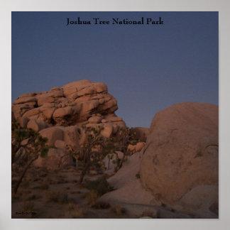 ジョシュアツリーの国立公園ポスター ポスター