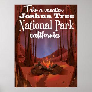 ジョシュアツリーの国立公園、カリフォルニア旅行 ポスター