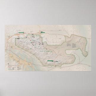 ジョシュアツリーの国立公園 ポスター