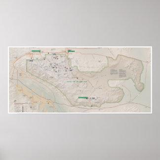 ジョシュアツリーの地図ポスター ポスター