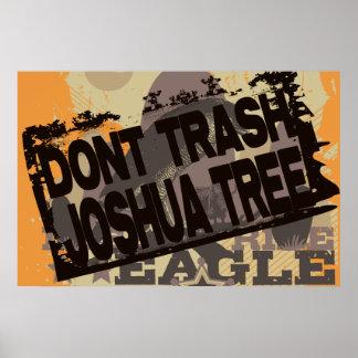 ジョシュアツリーポスターを処分しないで下さい ポスター