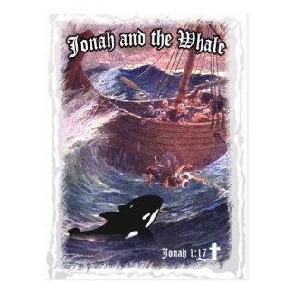 ジョナーの1:17 -ジョナーおよびクジラ ポストカード