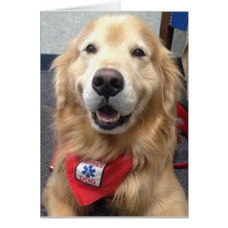 ジョナーサービス犬の挨拶状のゴールデン・リトリーバー グリーティングカード