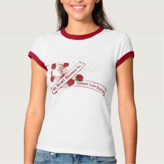 ジョニーの法律のDawgsのハートの入れ墨 Tシャツ