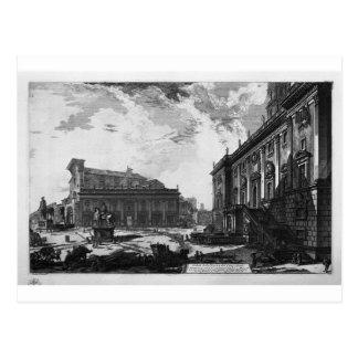 ジョバンニ著広場del Campidoglioの眺め ポストカード