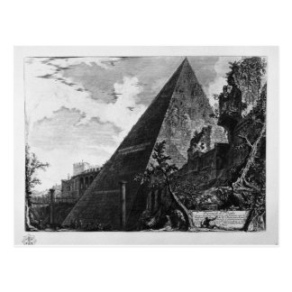 ジョバンニBattista著Caius Cestiusのピラミッド ポストカード