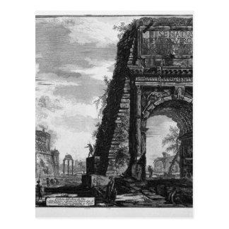ジョバンニBattista著Titusのアーチの眺め ポストカード
