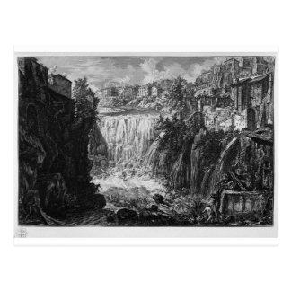 ジョバンニBattista著Tivoliの滝の眺め ポストカード