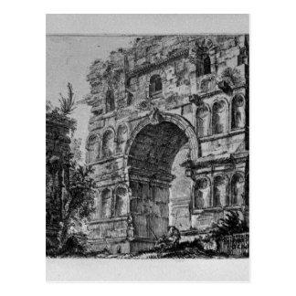 ジョバンニBattista Piranes著ローマのTitusのアーチ ポストカード