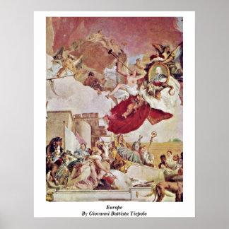 ジョバンニBattista Tiepolo著ヨーロッパ ポスター