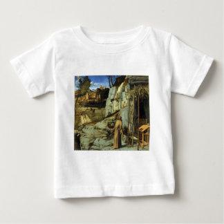 ジョバンニBellini著砂漠の聖者フランシス島 ベビーTシャツ