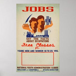 ジョブクラスのヴィンテージポスター ポスター