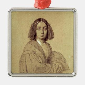 ジョルジュ・サンド1837年のポートレート メタルオーナメント