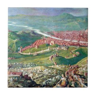 ジョルジョ著フィレンツェの1530包囲のフレスコ画 タイル