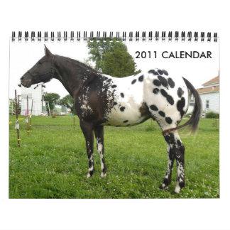ジョンおよびMARIEクレイグ家族のAPPALOOSAS カレンダー