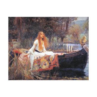 ジョンのウォーターハウスエシャロットの女性 キャンバスプリント