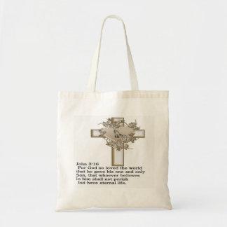 ジョンの十字の3:16 トートバッグ