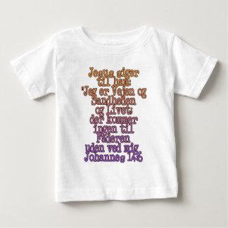 ジョンの14:6のデンマーク語 ベビーTシャツ
