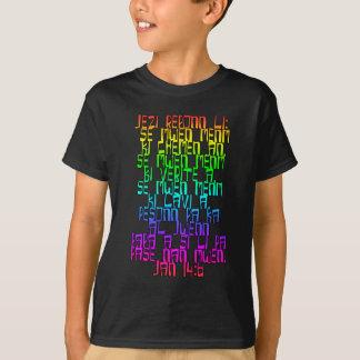 ジョンの14:6のハイチのクリオール人 Tシャツ