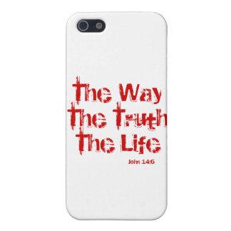 ジョンの14:6のiPhone 5Cの無光沢の終わりの場合 iPhone SE/5/5sケース