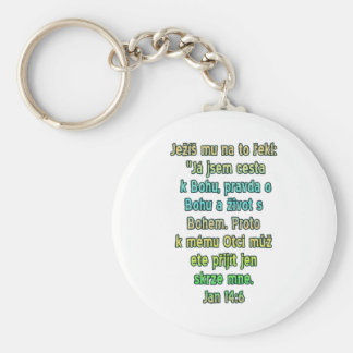 ジョンの14:6チェコ キーホルダー