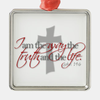 ジョンの14:6 メタルオーナメント