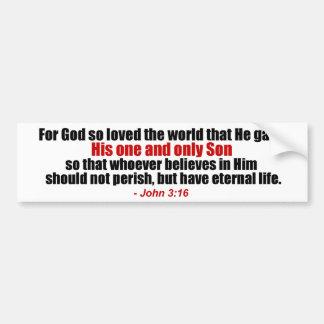 ジョンの3:16のキリスト教のバンパーステッカー バンパーステッカー