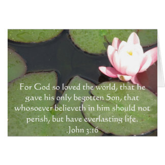 ジョンの3:16のキリスト教の感動的な引用文 カード