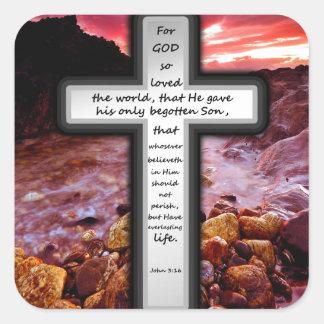 ジョンの3:16のギフト スクエアシール