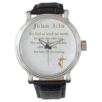 ジョンの3:16のクリスチャンのギフト 腕時計