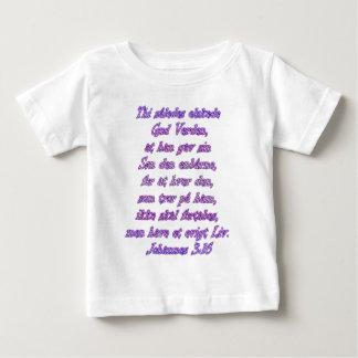 ジョンの3:16のデンマーク語 ベビーTシャツ
