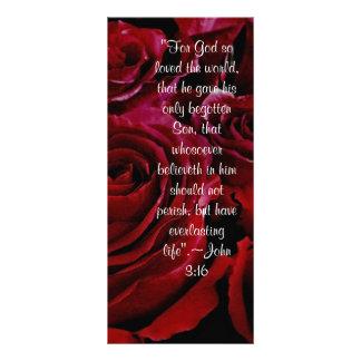 ジョンの3:16のバラの棚カード ラックカード