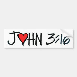ジョンの3:16のバンパーステッカー バンパーステッカー