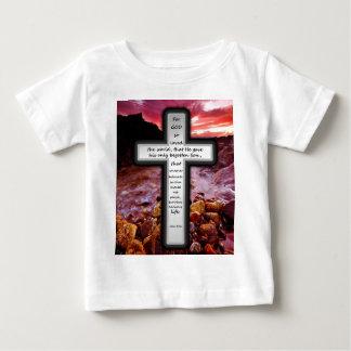 ジョンの3:16の乳児のTシャツ ベビーTシャツ