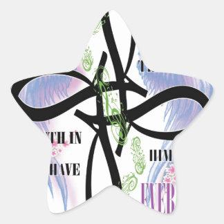ジョンの3:16の入れ墨のデザイン 星シール