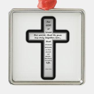 ジョンの3:16の十字だけ メタルオーナメント