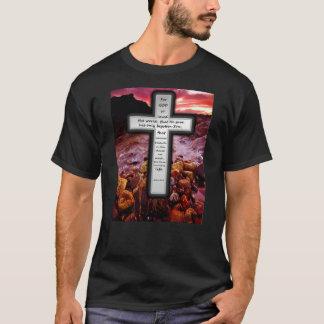 ジョンの3:16の基本的な暗いTシャツ Tシャツ