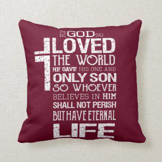 ジョンの3:16の枕 クッション