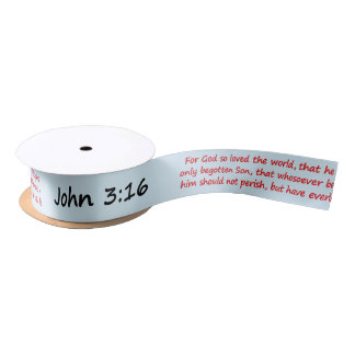 ジョンの3:16の聖書の詩 サテンリボン