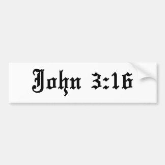 ジョンの3:16の聖書の詩 バンパーステッカー