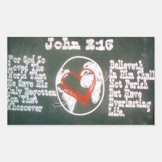 ジョンの3:16の長方形のステッカー 長方形シール