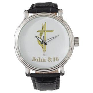 ジョンの3:16のTシャツおよび多く 腕時計