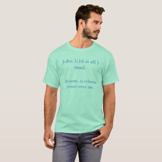 ジョンの3:16のTシャツ Tシャツ