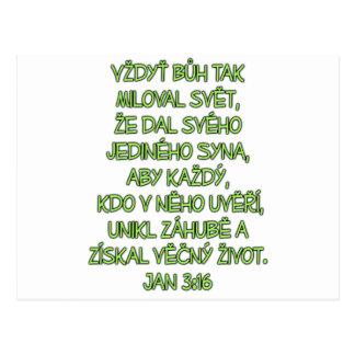 ジョンの3:16チェコ ポストカード