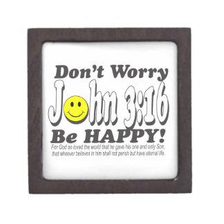 ジョンの3:16 -あります幸せが心配しないで下さい! ギフトボックス