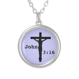 ジョンの3:16 シルバープレートネックレス